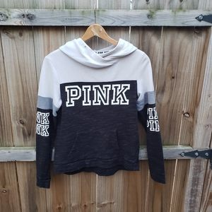PINK / White, Gray and Black Hoodie Small